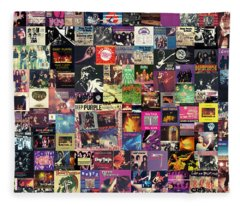Deep Purple Collage Fleece Blanket