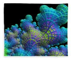 Deep Sea Coral Fleece Blanket