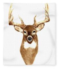 Deer - Front View Fleece Blanket
