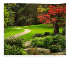 Deer In Lithia Park Fleece Blanket