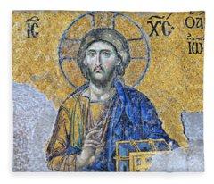 Deesis Mosaic -- Hagia Sophia Fleece Blanket