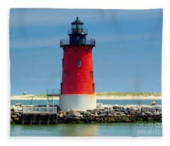 Delaware Breakwater Lighthouse Fleece Blanket