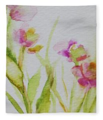 Delicate Blossoms Fleece Blanket