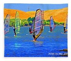 Delta Water Wings Fleece Blanket