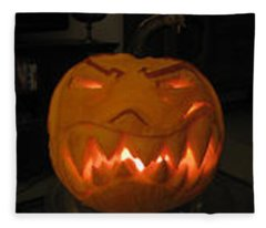 Demented Mister Ullman Pumpkin 2 Fleece Blanket