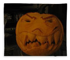 Demented Mister Ullman Pumpkin 3 Fleece Blanket