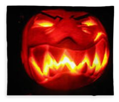 Demented Mister Ullman Pumpkin Fleece Blanket