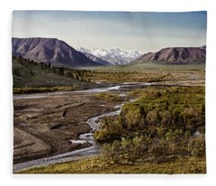 Denali Toklat River Fleece Blanket