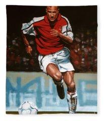 Dennis Bergkamp Fleece Blanket
