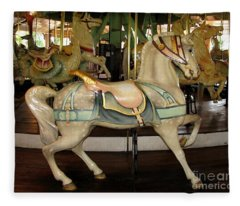 Dentzel Menagerie Carousel Horse Fleece Blanket