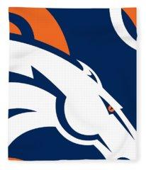 Denver Broncos Football Fleece Blanket
