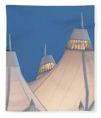 Denver International Airport Fleece Blanket