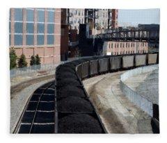 Denver Rail Yard Fleece Blanket