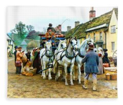 Departing Cranford Fleece Blanket