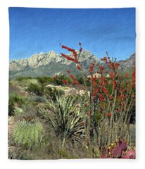 Desert Bloom Fleece Blanket