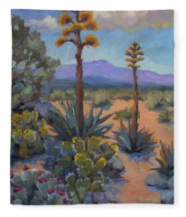 Desert Century Plants Fleece Blanket
