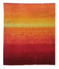 Desert Horizon Original Painting Fleece Blanket