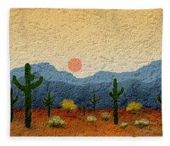 Southwest Digital Art Fleece Blankets