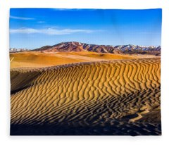 Desert Lines Fleece Blanket