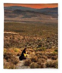 Desert Music Fleece Blanket