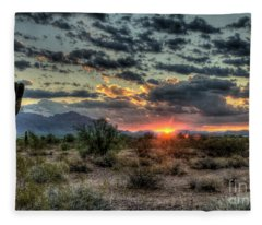 Desert Sunrise  Fleece Blanket