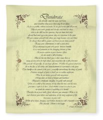 Desiderata Gold Bond Scrolled Fleece Blanket