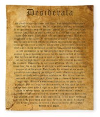 Desiderata Fleece Blanket