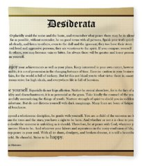Desiderata Old English Square Fleece Blanket