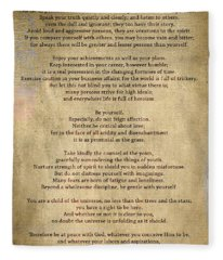 Desiderata - Scrubbed Metal Fleece Blanket