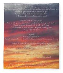 Desiderata Sky 2 Fleece Blanket