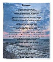 Desiderata Wisdom Fleece Blanket