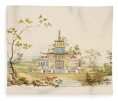 Design For A Chinese Temple, C.1810 Fleece Blanket