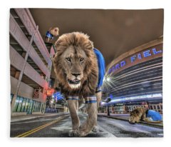 Detroit Lions At Ford Field Fleece Blanket