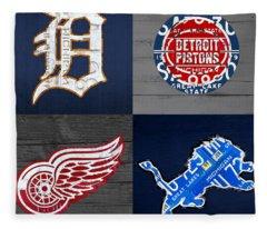Detroit Fleece Blankets
