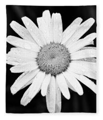 Dew Drop Daisy Fleece Blanket