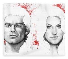 Dexter And Debra Morgan Fleece Blanket