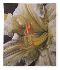 Fleece Blanket featuring the painting Diamonds by Barbara Keith