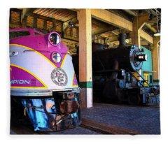 Diesel And Steam Fleece Blanket