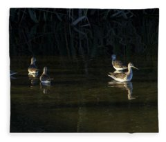 Digital Oil Of Sandpipers Fleece Blanket