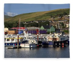 Dingle Harbour County Kerry Ireland Fleece Blanket