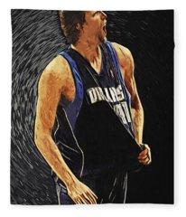 Dirk Nowitzki Fleece Blanket