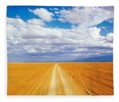 Dirt Road Amboseli Kenya Fleece Blanket
