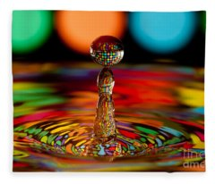 Disco Ball Drop Fleece Blanket