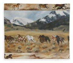 Discovery Horses Framed Fleece Blanket