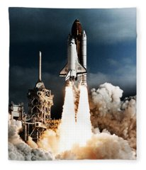 Discovery Hubble Launch Sts-31 Fleece Blanket