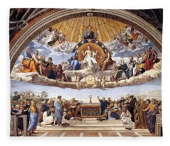 Disputation Of The Eucharist  Fleece Blanket