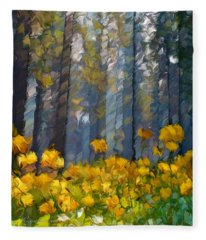 Distorted Dreams By Day Fleece Blanket