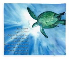 Dive Deep Fleece Blanket