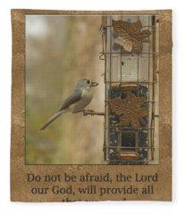 Do Not Be Afraid God Will Provide Fleece Blanket