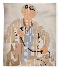Doc. Brown Fleece Blanket